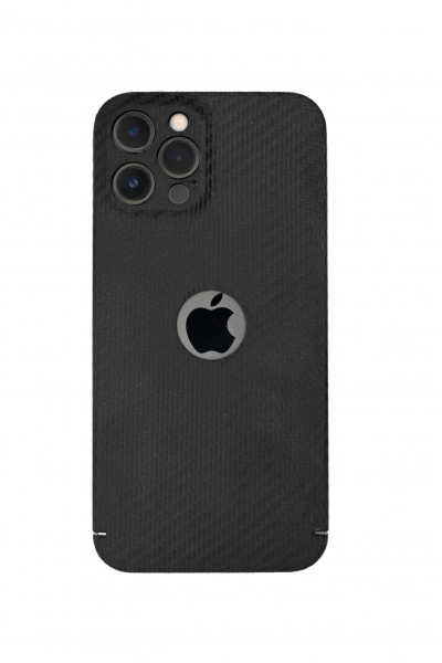 Carbon Cover iPhone 13 Pro Max avec Logo Window