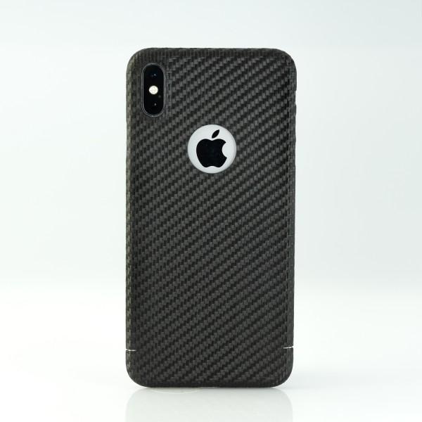 Carbon Cover iPhone Xs Max avec Logo Window