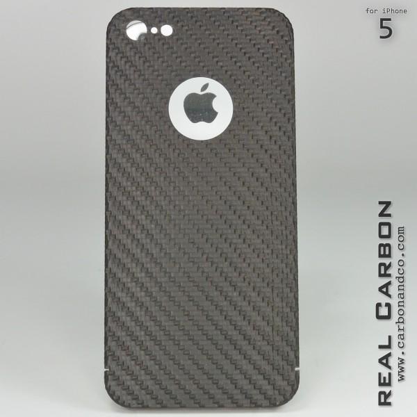 Carbon Cover iPhone 5 avec Logo Window