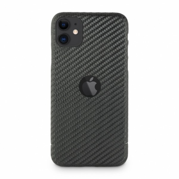 Carbon Cover iPhone 11 avec Logo Window