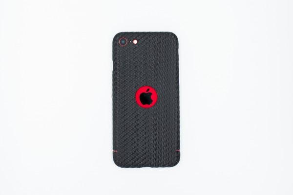 Carbon Cover iPhone SE 2020 avec Logo Window
