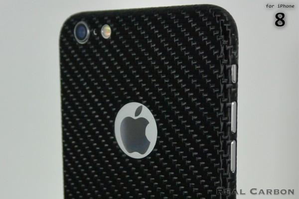 Carbon Cover iPhone 8 avec Logo Window