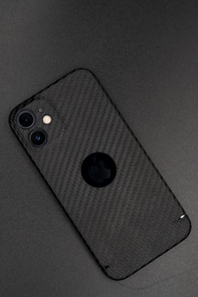 Carbon Cover iPhone 12 avec Logo Window