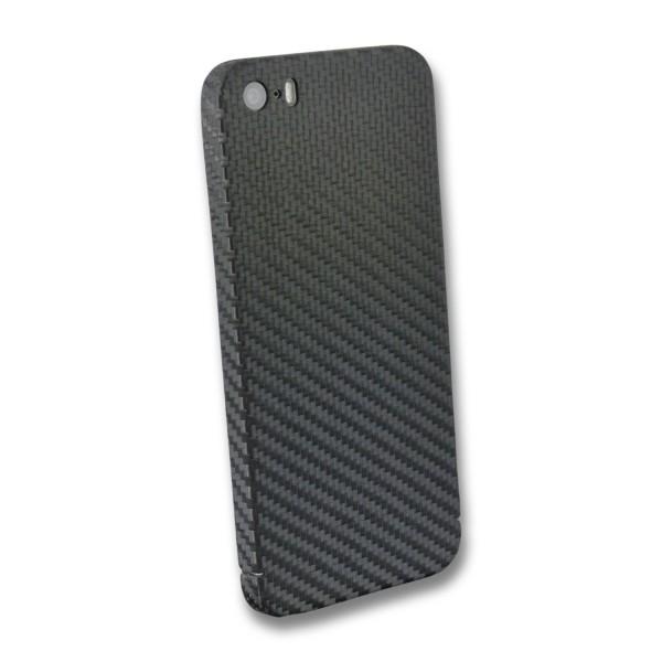 Carbon Cover iPhone SE 2016 avec Logo Window